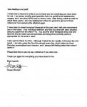 SS testimonial letter